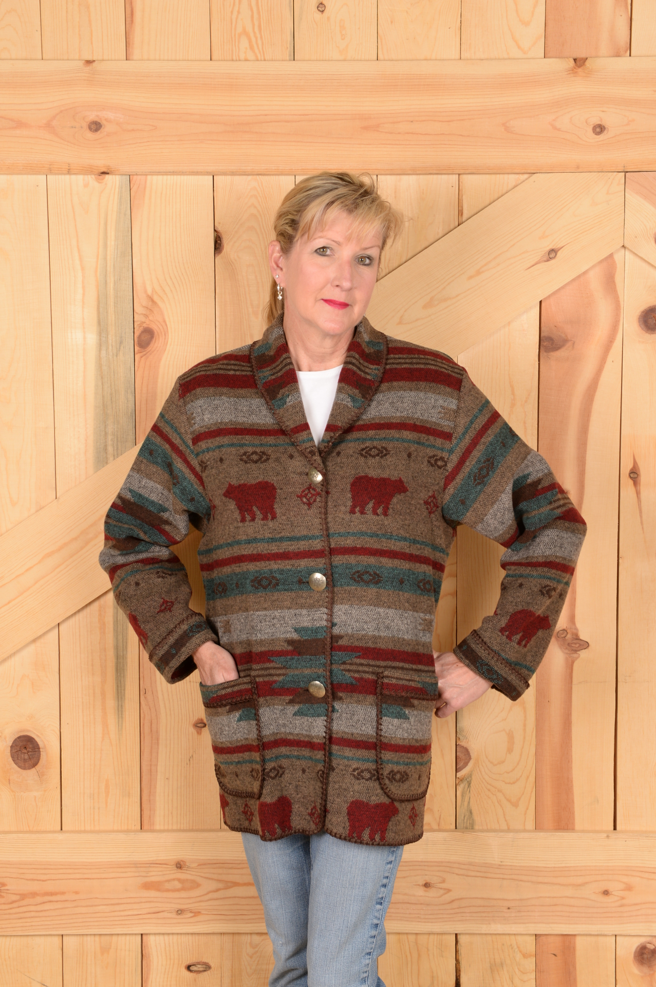 #875YS - YELLOWSTONE BEAR CAR COAT - $179.95        OUTLET SALE $99 -- S-L-XXL ONLY