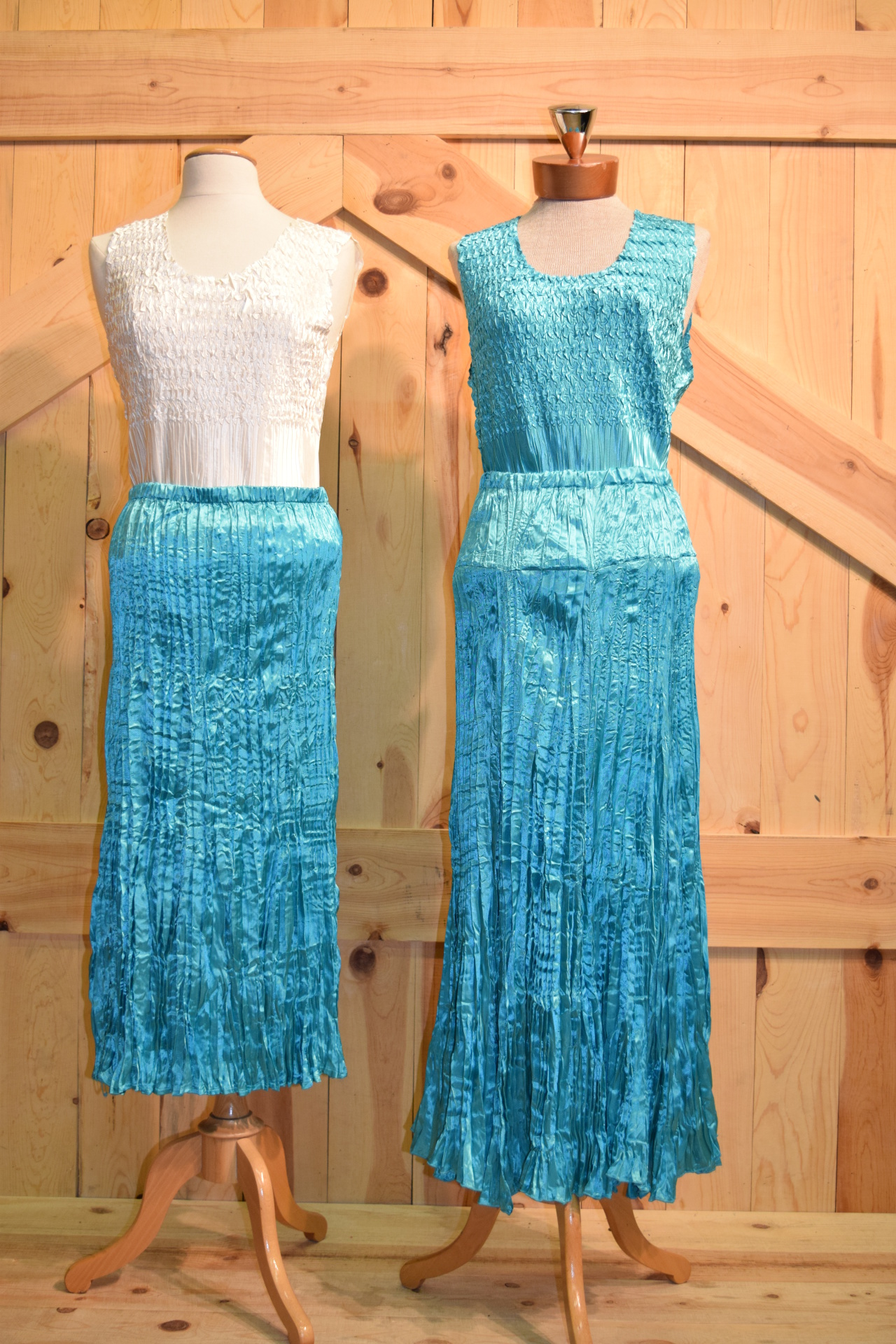 "AQUA - #572 - 31"" & #574 - 36"" SATIN SKIRT                         WAS $79.95 - SALE $19.95"
