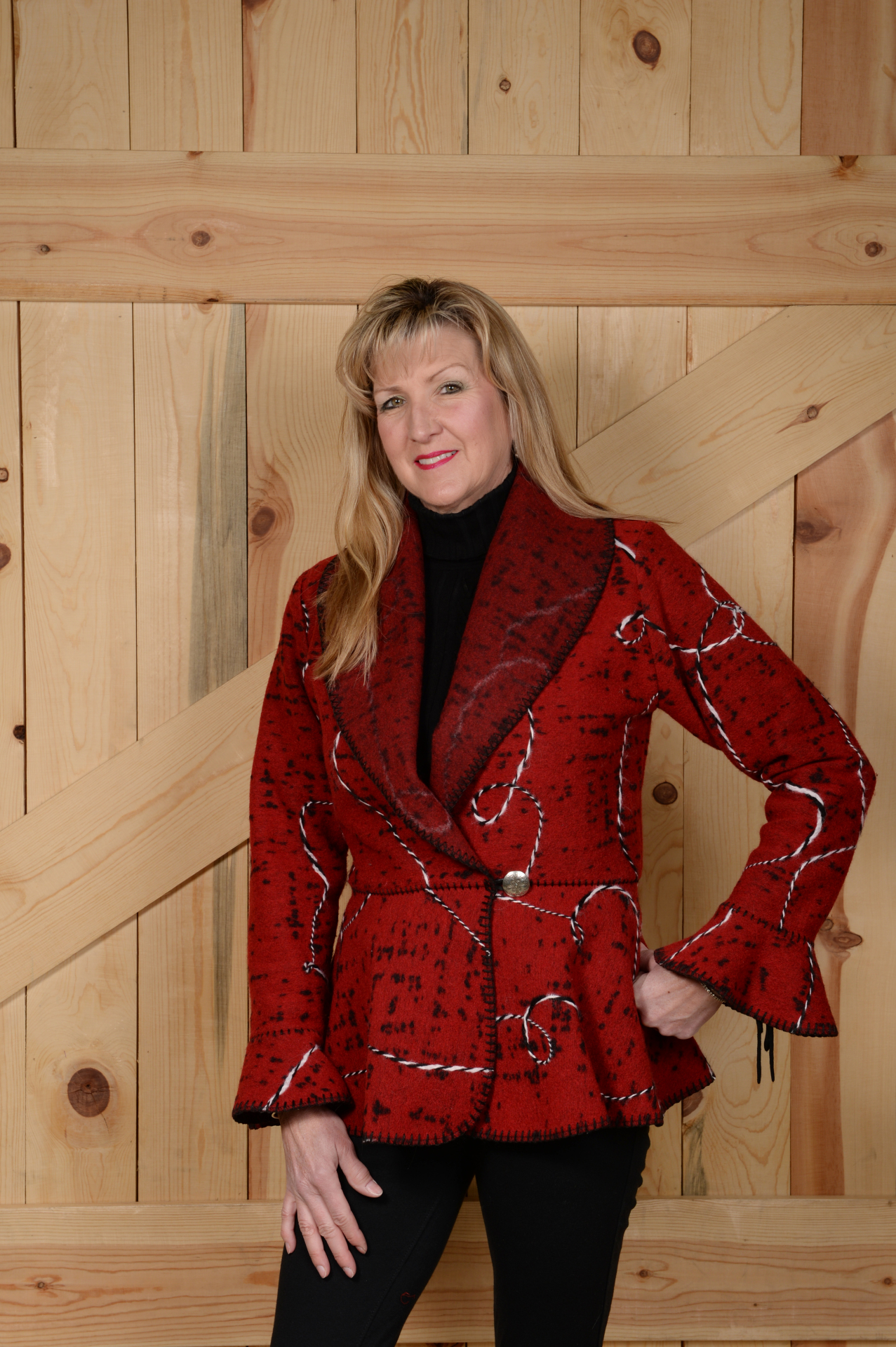 845RRRV - RED RODEO ROPE FLOUNCE JACKET              WAS $199.95 - NOW $99.97 - SMALL ONLY!