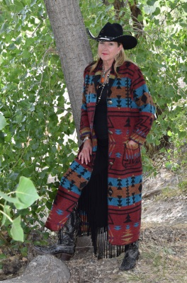 #900ZR - RED ZUNI DUSTER - $229.95                                      XS - S - M - L - XL - 2X