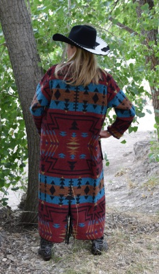 #900ZR - RED ZUNI DUSTER - BACK