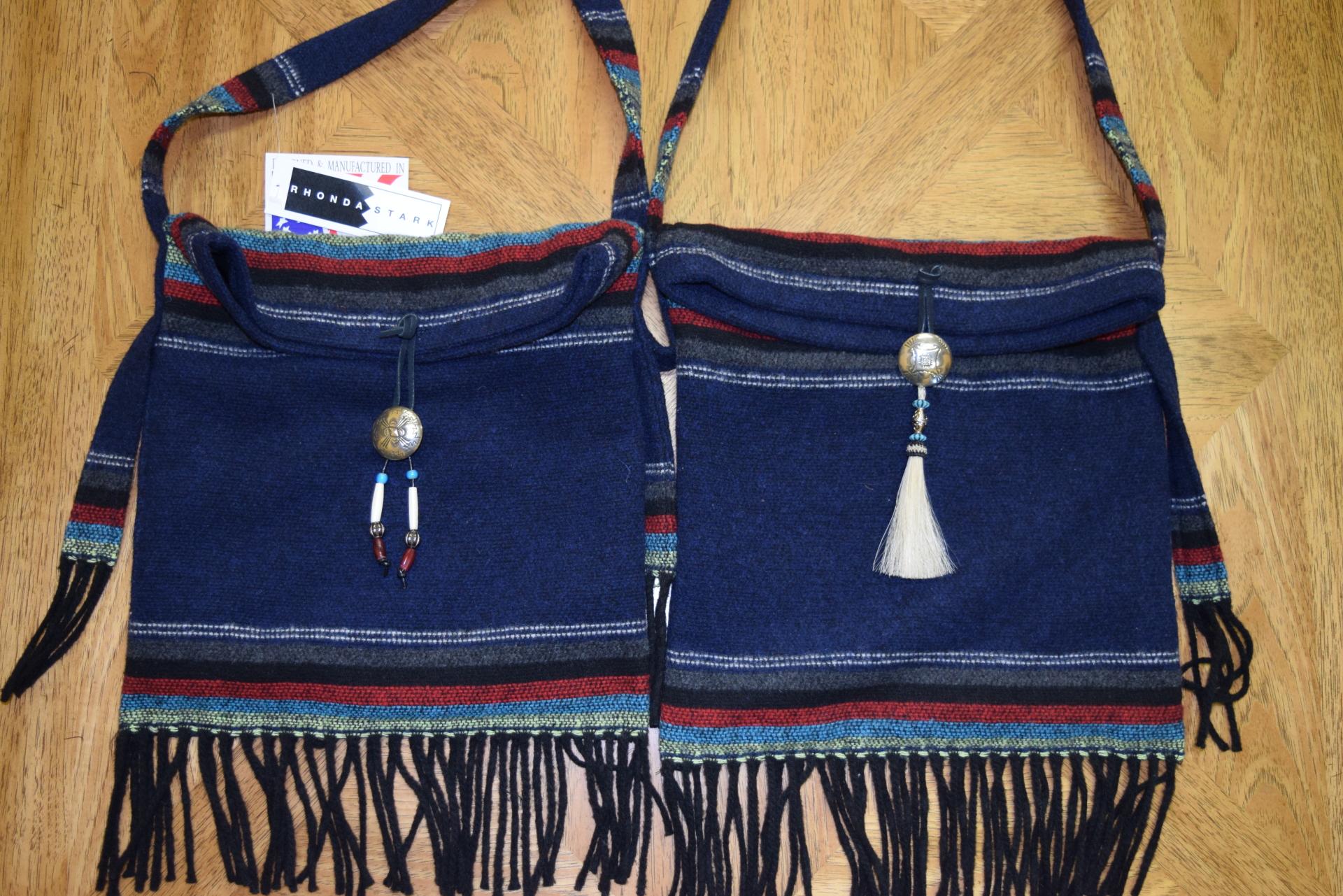 #B01PNF - NAVY PADRE FRINGE SHOULDER BAGS               A - B - $89.95