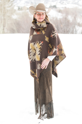 #208TT - TETON BUTTON COLLAR PONCHO - $119.95