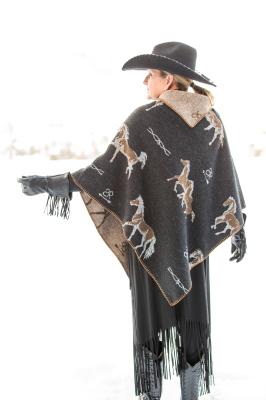 #228HBB - BLACK HORSE BRANDS KERCHIEF PONCHO O/S - $99.95