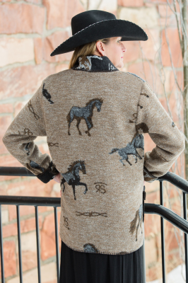 #875HBT - TAN HORSE BRANDS CAR COAT - BACK
