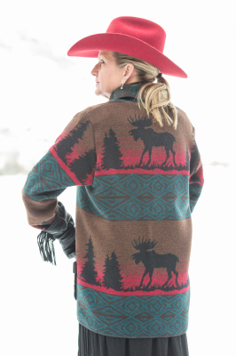 875ML - MOOSE ON THE LOOSE CAR COAT - BACK