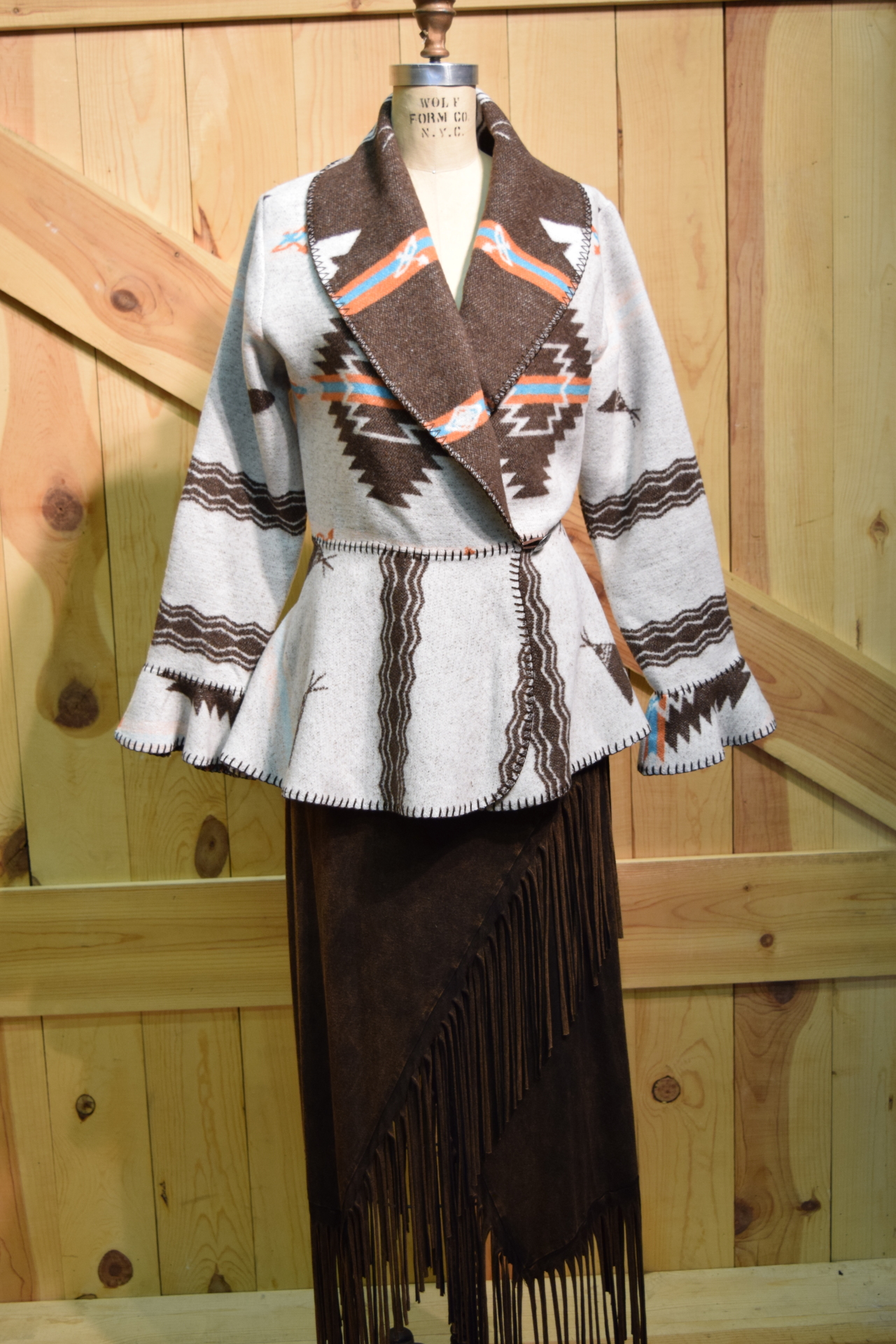 #845PW - WHITE POCAHONTAS FLOUNCE JACKET - SOLD OUT!