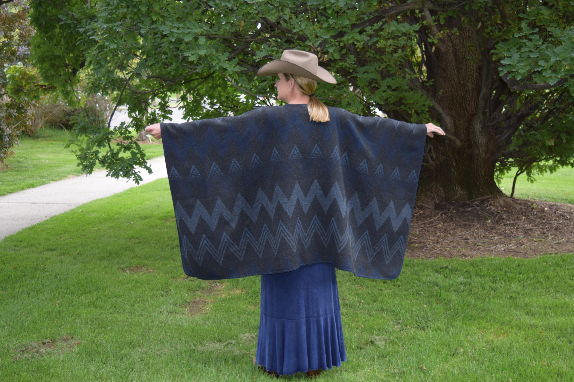 "#201WM - MIDNIGHT WIGWAM  - 60"" wide x 34"" long"