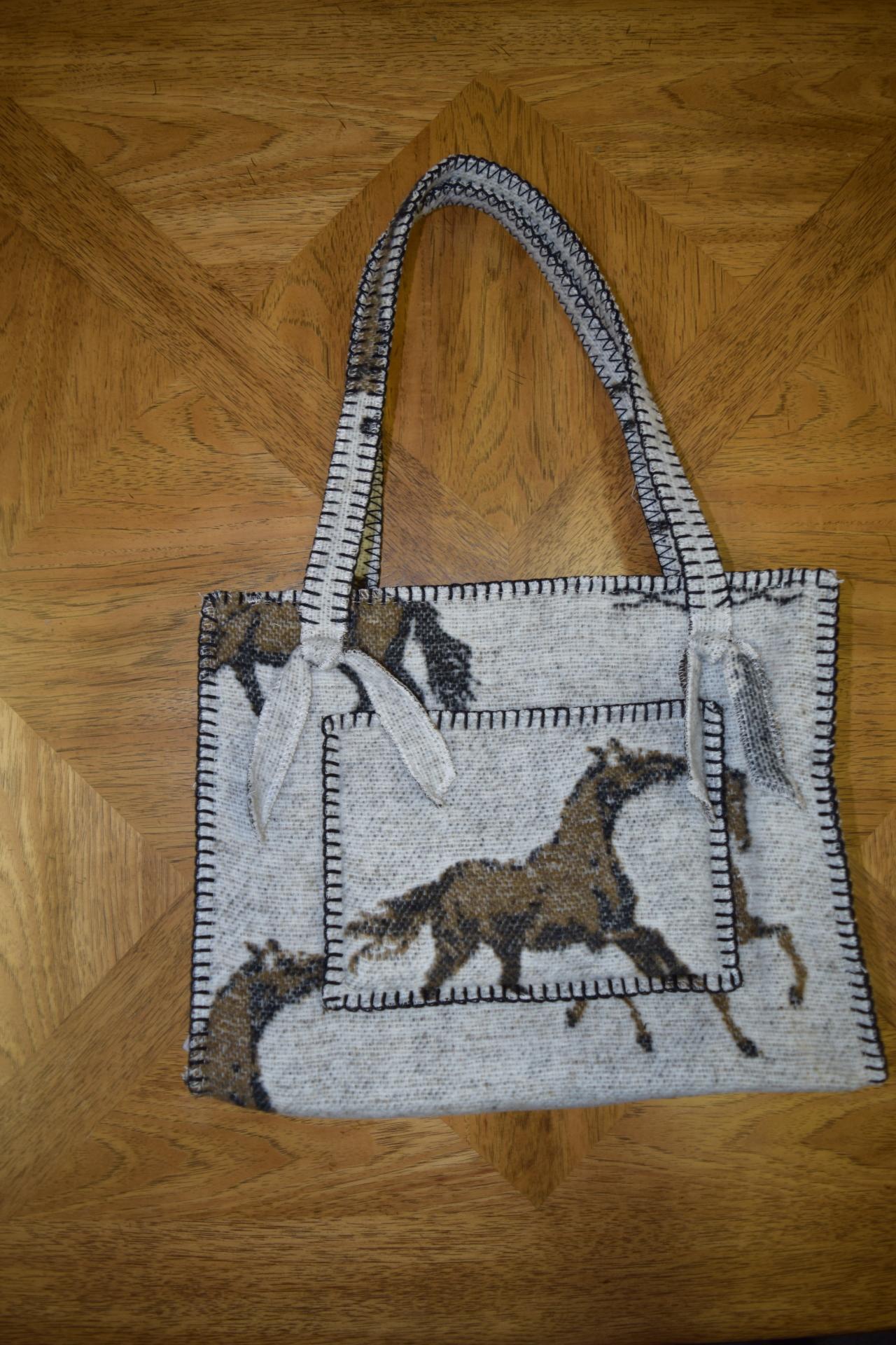 #B10HBO - OATMEAL HORSE BRANDS POCKET ZIP BAG - $99.95
