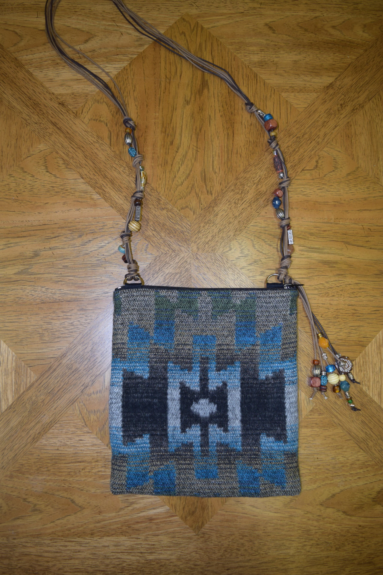 #B05BS - BIG SKY BEADED STRAP ZIP BAG - $129.95