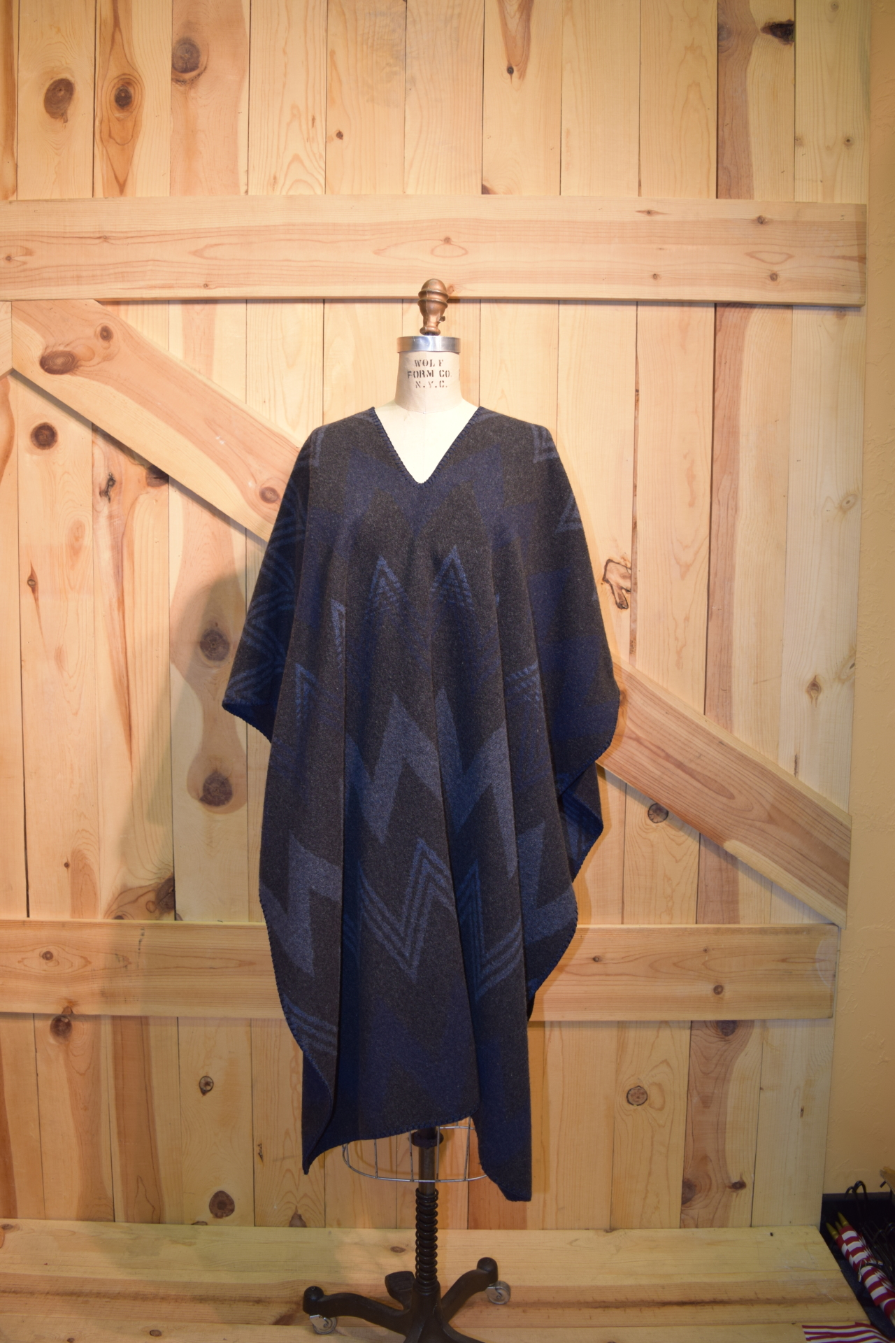 "#240WM - MIDNIGHT WIGWAM 40"" length SLIT NECK PONCHO - O/S - $129.95"