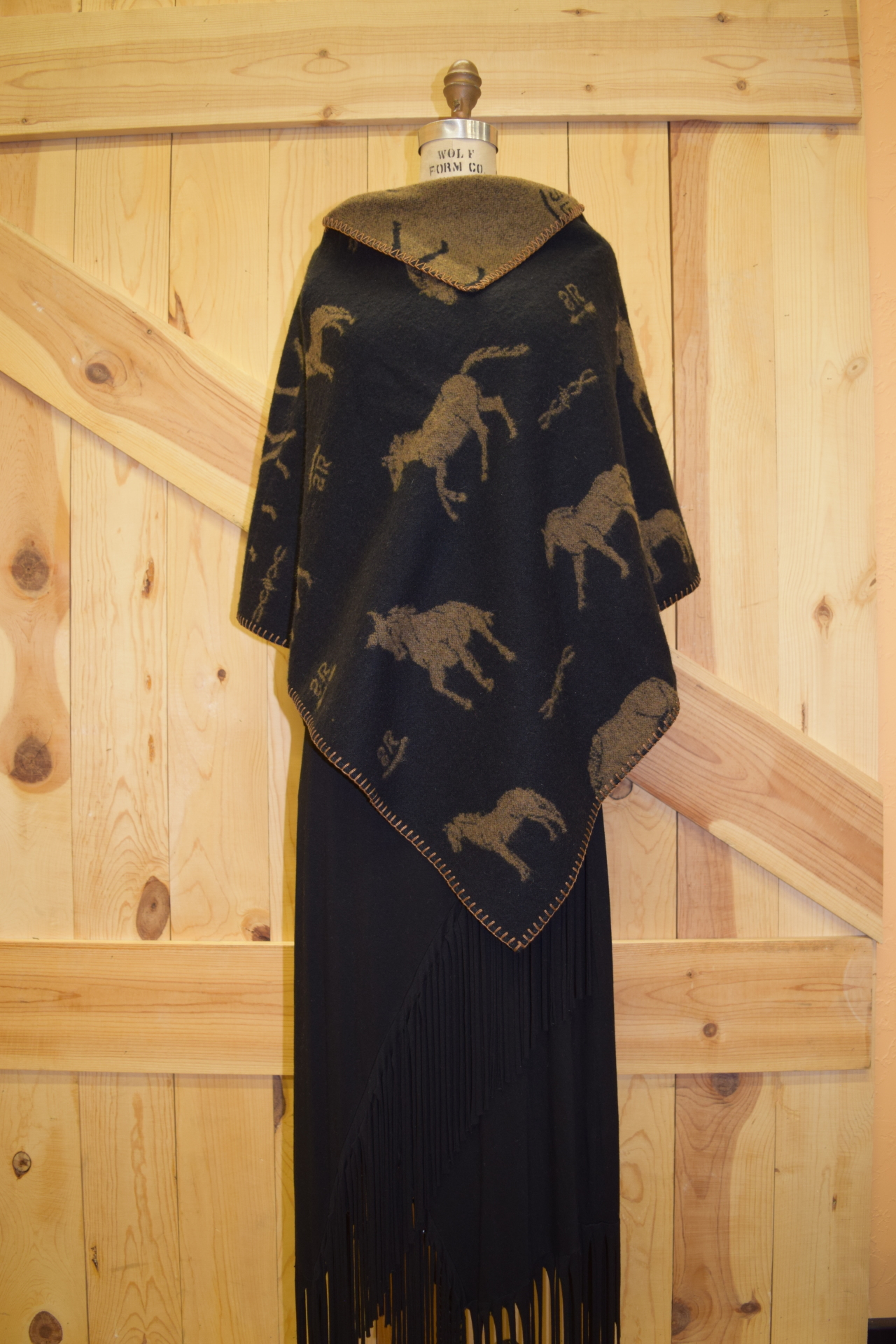 "#227HBBC - B/C RS BRANDS 27"" KERCHIEF PONCHO - $99.95 - SALE - $49.95"