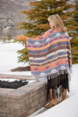 100DSF - DESERT SUNSET FRINGE CAPE - back