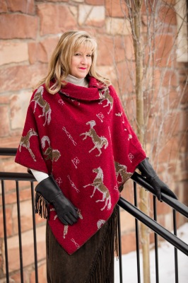#208HBR - RED HORSE BRANDS BUTTON COLLAR PONCHO - O/S -- $119.95
