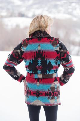 #865CK - CHEROKEE WRAP COAT - back