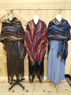 NEW ARRIVALS!!  CAPPUCCINO, LIPSTICK RED & MIDNIGHT WAVE ITALIAN CAPES - O/S -- $169.95