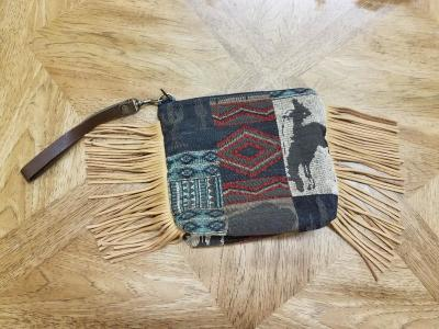 #B08F-WWB -- BRICK WILD WEST WRISTLET CLUTCH BAG -- $99.95