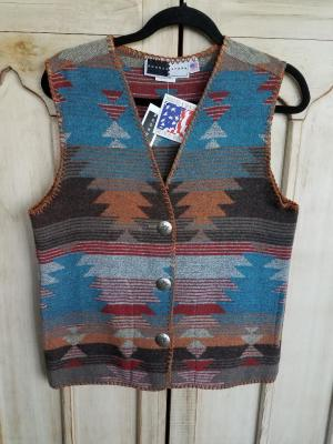 #129ASST-SF - SANTA FE V-VEST -- WAS $84.95 -- SALE $42.47 -- SMALL ONLY!