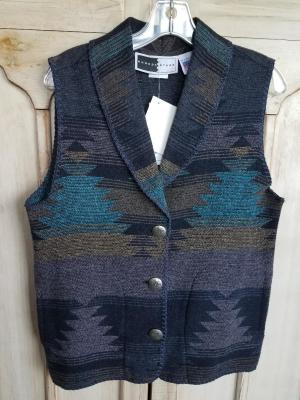#130TW - TWILIGHT SHAWL COLLAR VEST - WAS $99.95 - SALE $49.98 -- SMALL ONLY!