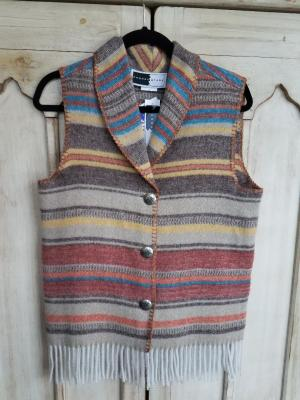 #131ARF - ARAPAHOE FRINGE SHAWL COLLAR VEST -- WAS $84.95 -- SALE $42.48 - ALL SIZES AVAILABLE!