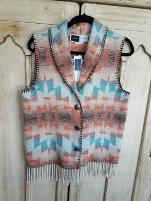 #131HSF - HARVEST SKY FRINGE SHAWL COLLAR VEST - WAS $84.95 -- SALE $42.48 - ALL SIZES AVAILABLE!