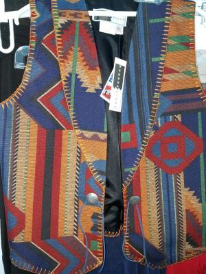 #115TS - TAOS COTTON SOUTHWEST VEST - limited quantities.  $139.95