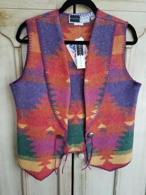 #125F - FIESTA WEST VEST (unlined) XS - 2X -- $99.95
