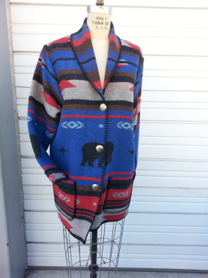#875BF - FREEDOM BEAR CAR COAT - $179.95 -- OUTLET SALE $50!  MEDIUM ONLY!