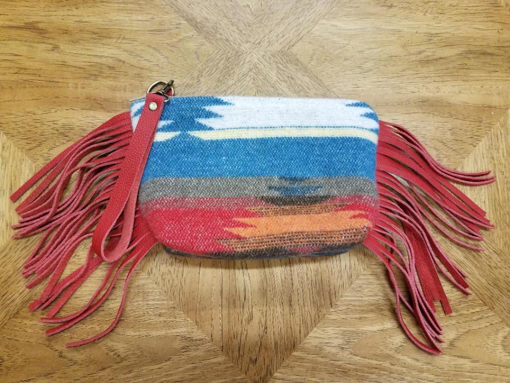 #B88F-SD - SUNNY DAZE FRINGE WRISTLET CLUTCH BAG - $129.95