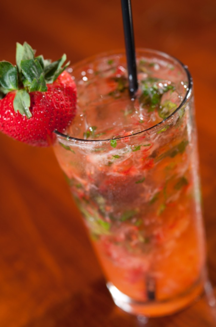 Strawberry and Basil Tom Collins