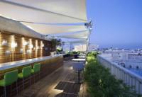 Rooftop restaurant view