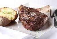 Rooftop restaurant steak