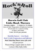 Rock 'n' Roll Dancing - Darwin Golf Club