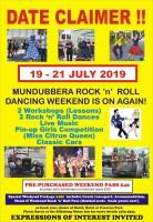 Mundubbera Rock 'n' Roll Weekend - 19th to 21st July 2019