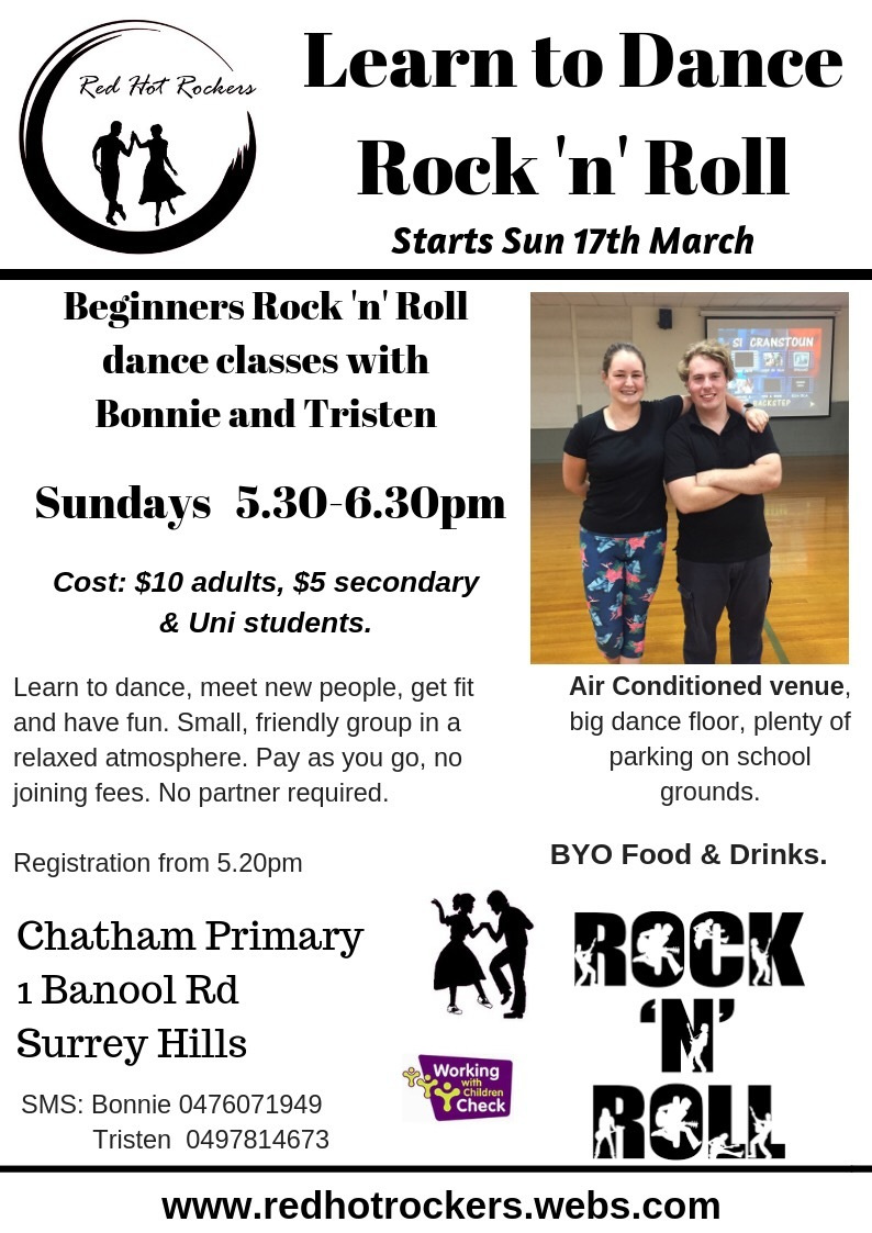 Red Hot Rockers - Learn to Dance - Surrey Hills
