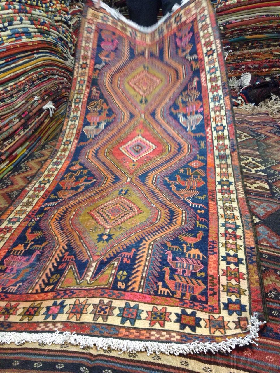 Kilim rug bag handmade,Kilim runner