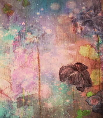 Watercolor painting flowers B Webber