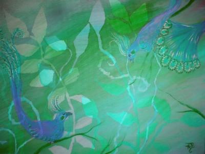 Painting Birds Bridget Webber