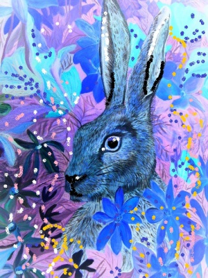 Painting Hare Bridget Webber