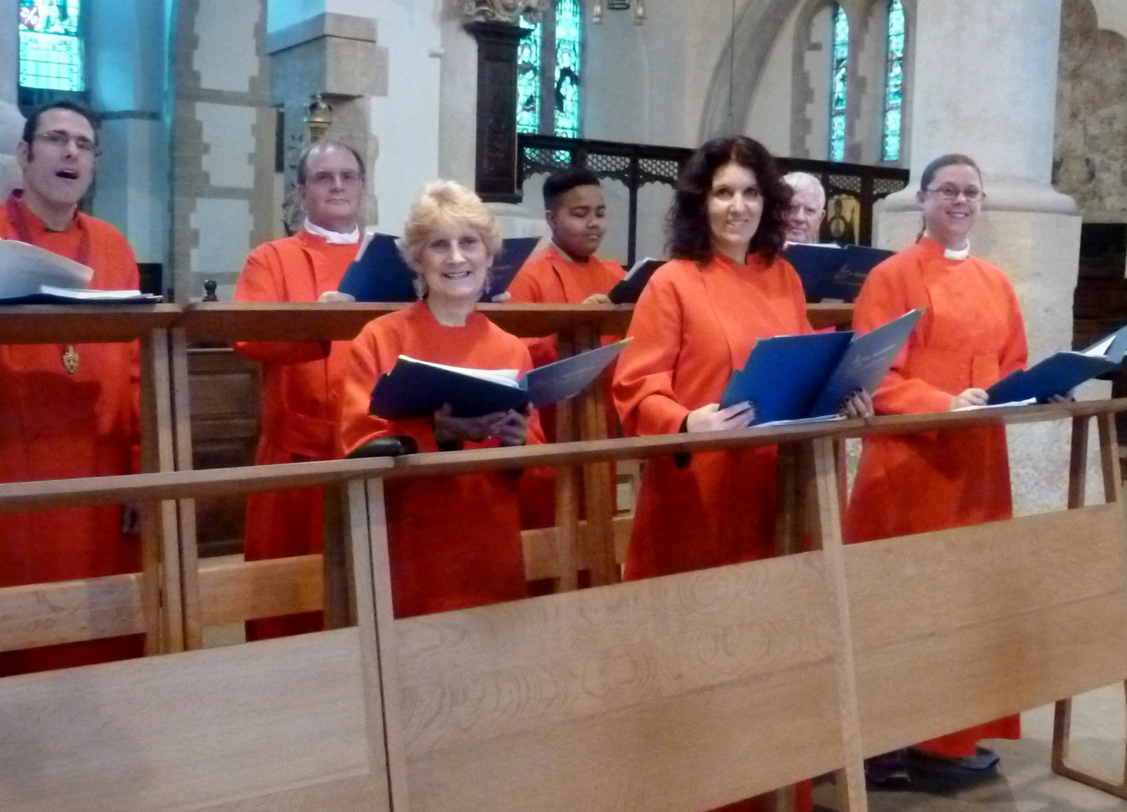 St. Botolph's, Heene choir at Portsmouth Cathedral, 18.2.16