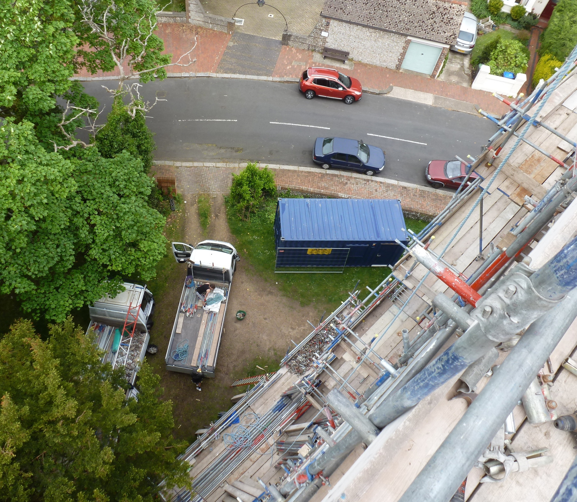 St. Botolph's, Heene view from scaffolding 21.5.16