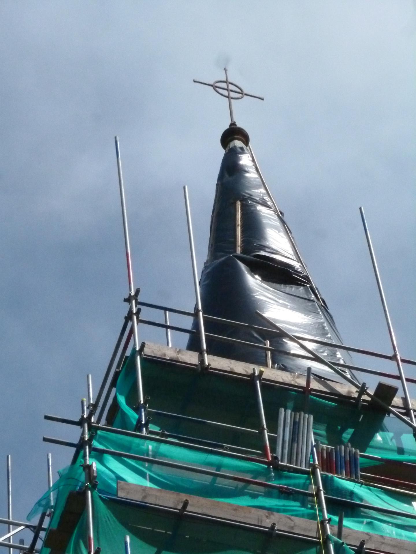 St. Botolph's, Heene, spire 21.6.16