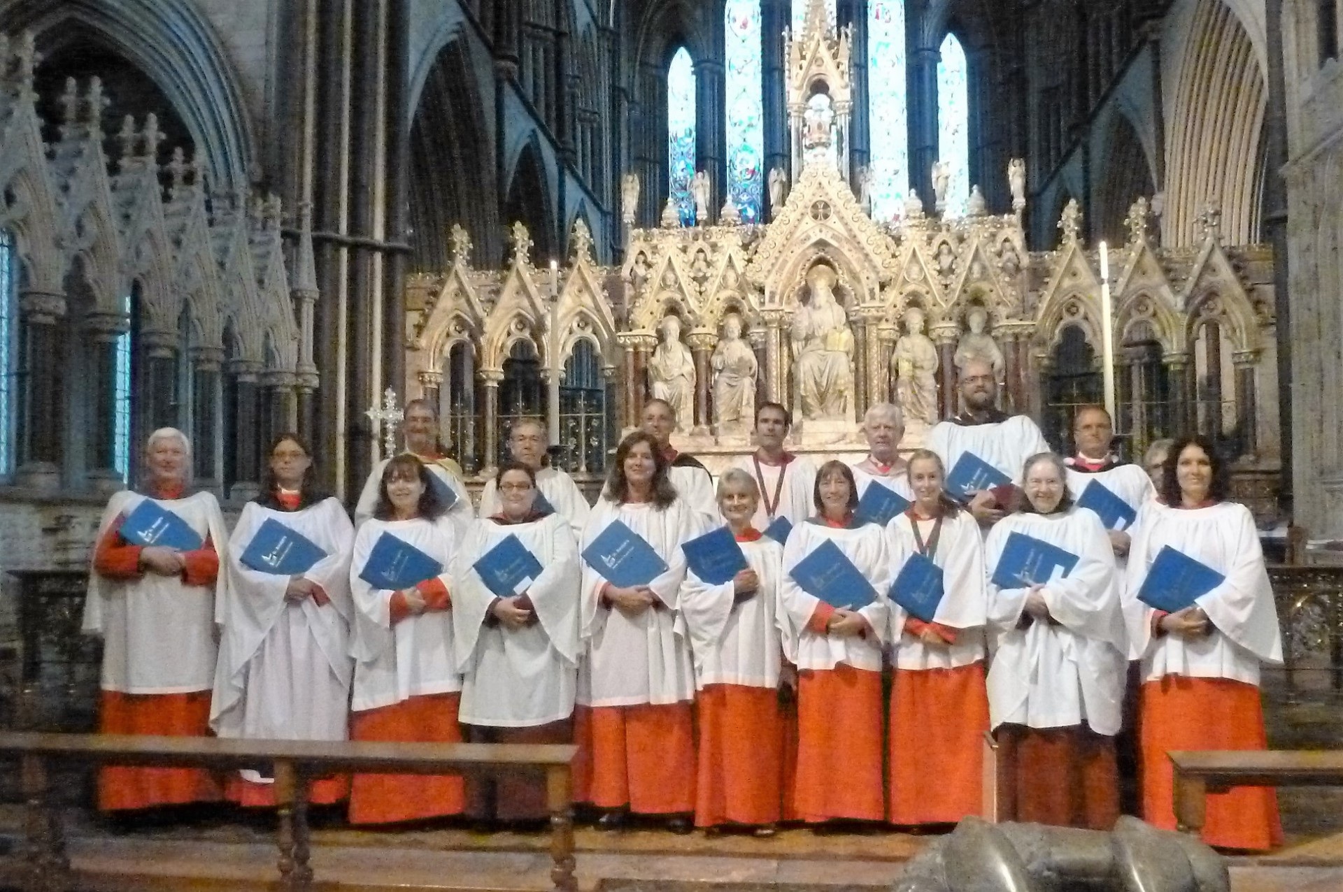 St. Botolph's, Heene, choir at Worcester Cathedral, 26-28 August, 2016