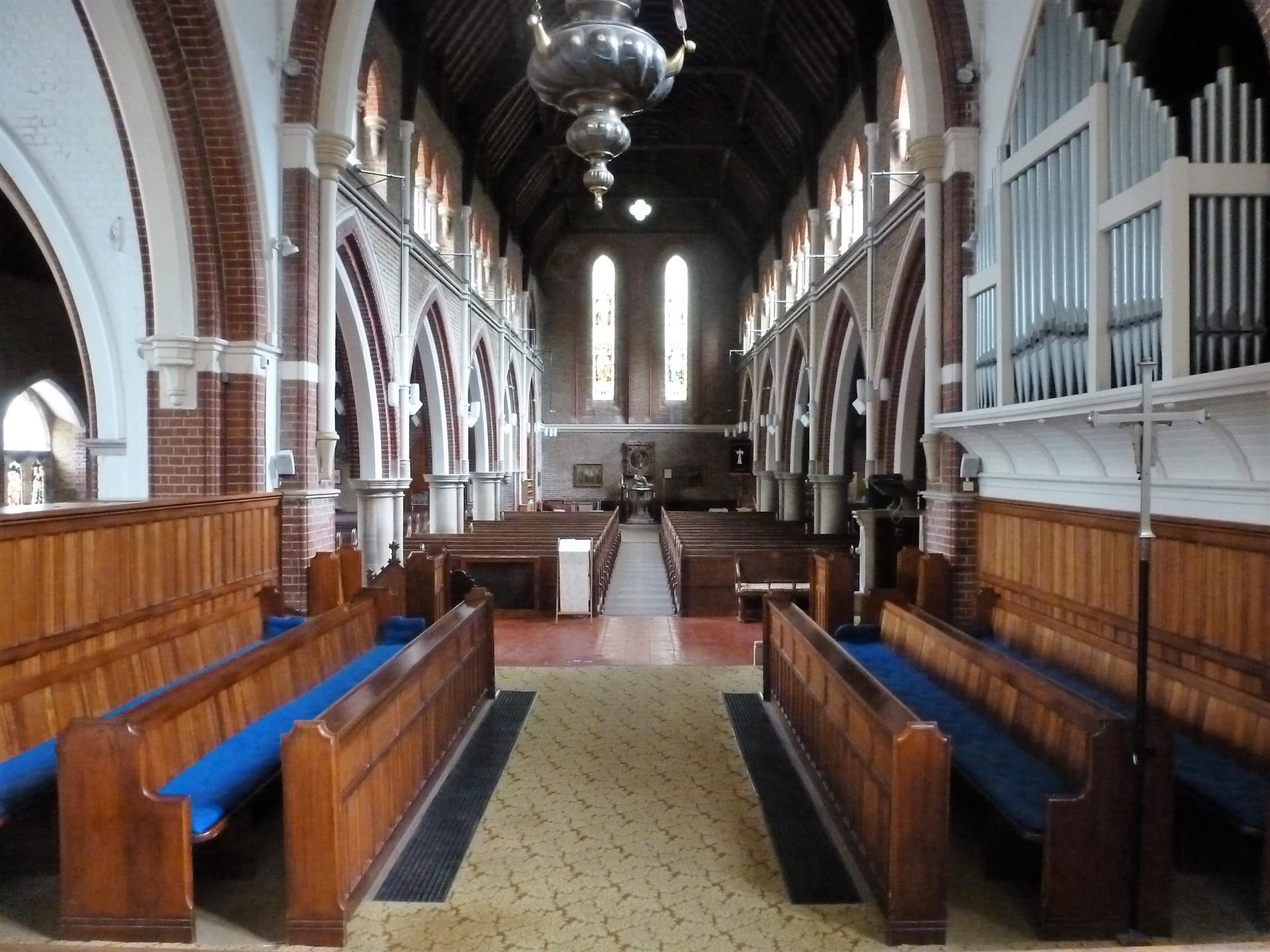 Interior view of St. Botolph's, Heene