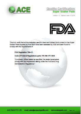 Super Soaker Pads FDA
