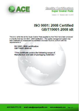Super Soaker Pads ISO9001:2008