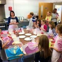 Children's cupcake baking and decorating party