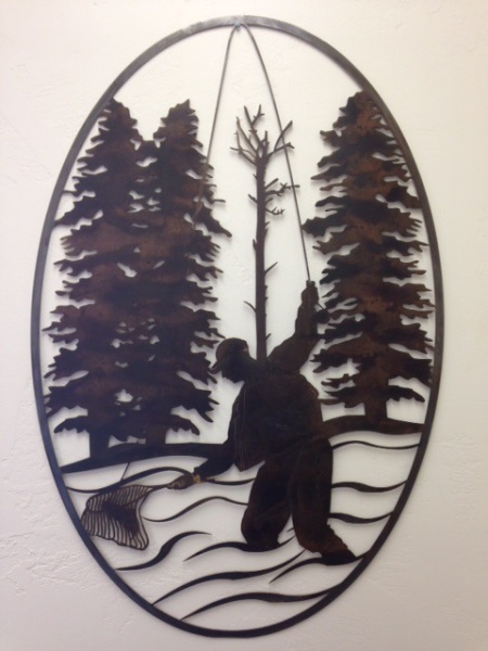 FLY FISHING METAL ART WATER JET