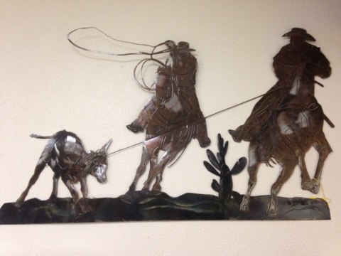 WATER JET, METAL ART, COWBOYS
