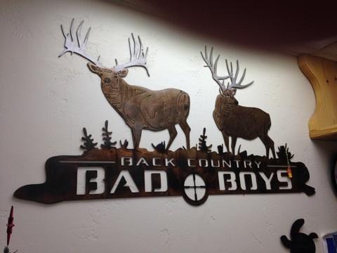 BAD BOYS METAL ART
